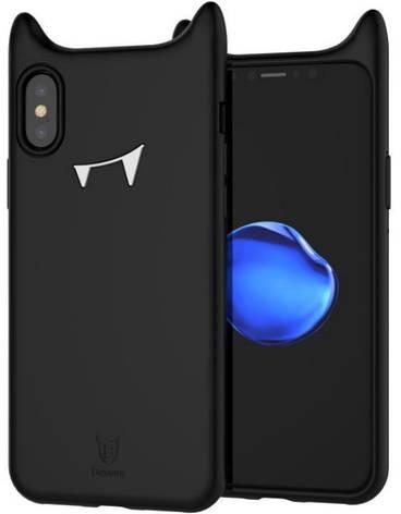 Чохол-накладка Baseus для Apple iPhone X Devil Baby ser. Black, фото 2