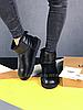 Женские угги UGG Classic Mini II черные с натуральной кожей, фото 3