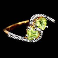 Хризолит, серебро 925, кольцо, 955КХ, фото 1