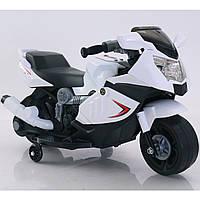 Детский электромобиль мотоцикл белый T-7215 WHITE мотор 1*12W аккумулятор 6V4AH деткам 2-4 года