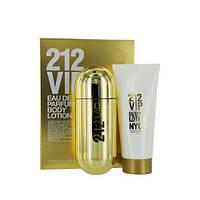 Carolina Herrera 212 VIP парфюмированная вода 80 ml + B/L B/L лосьон для тела 100 ml женский НАБОР