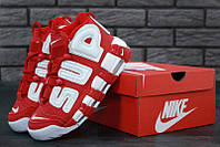 Женские кроссовки Nike Air More Uptempo Red/White