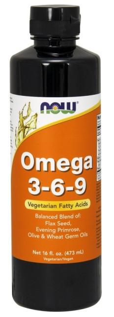 Рыбий Жир NOW Omega 3-6-9 473 ml, НАУ Омега 369 473 мл