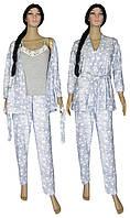 Пижама женская с брюками и теплый халат 18207 Milan Soft Grey, р.р.42-52, фото 1
