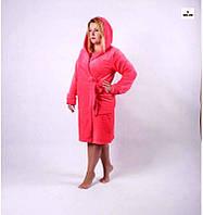 Женский махровый халат на запах р.42-56