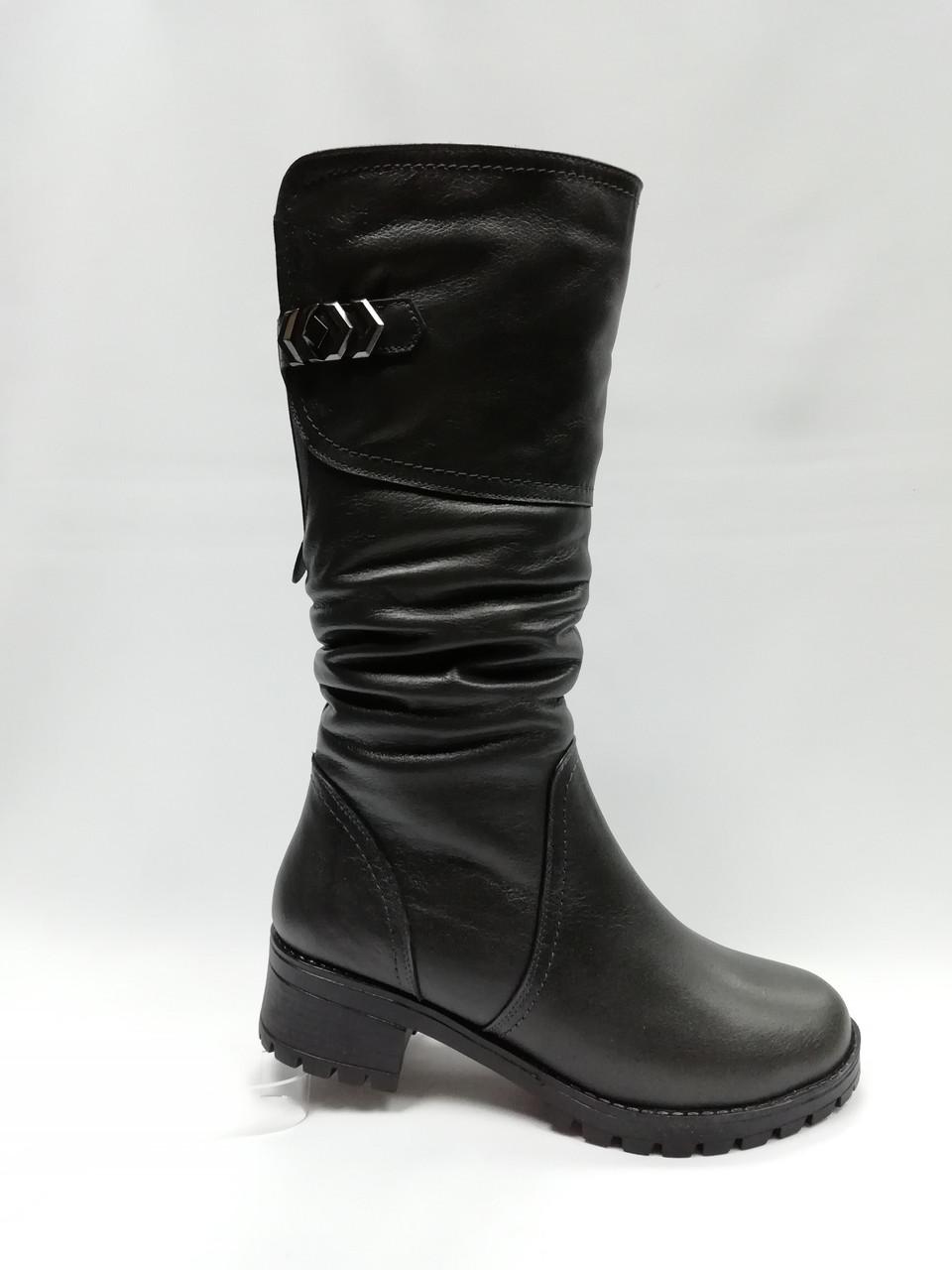 Чорні зимові чоботи. Україна. Розміри 36 - 42.