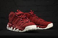 Мужские кроссовки Nike Air More Uptempo Bordeaux, фото 1
