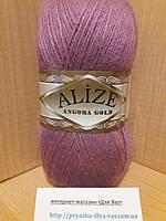 Зимняя пряжа (20% шерсть, 80% акрил; 100г/550м) Alize Angora Gold 28 (лиловая роза)