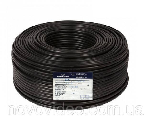 Комбинированный кабель  для видеонаблюдения КВК П2 2 0.75 в бухте