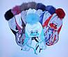Детская зимняя шапка на девочку(флис)