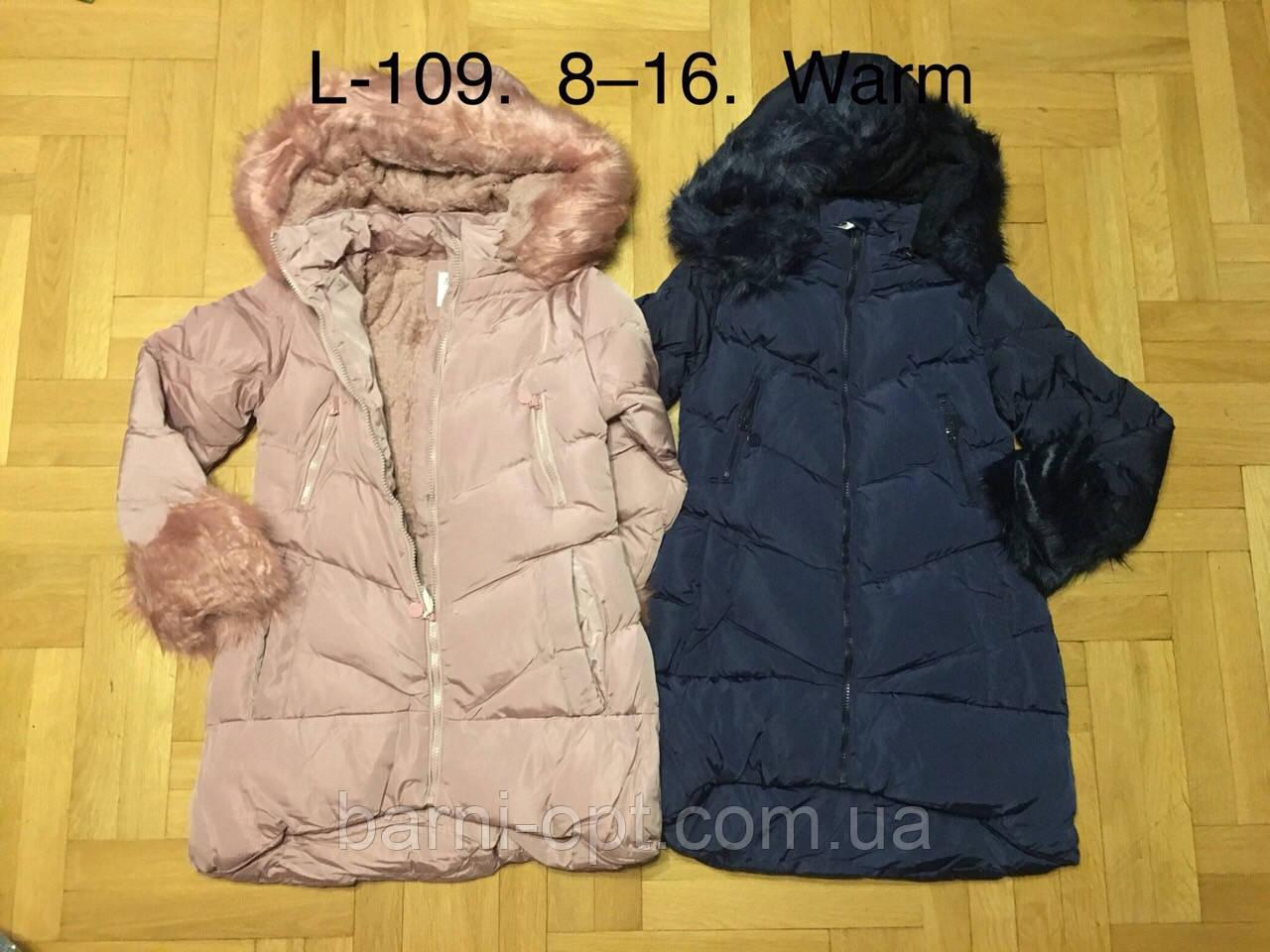 Куртки зимние для девочек оптом, F&D, 8-16 рр