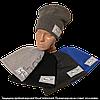 Детская шапка с флисом для мальчиков, трехнитка 4-9лет Украина. Реплика Найк м.7559