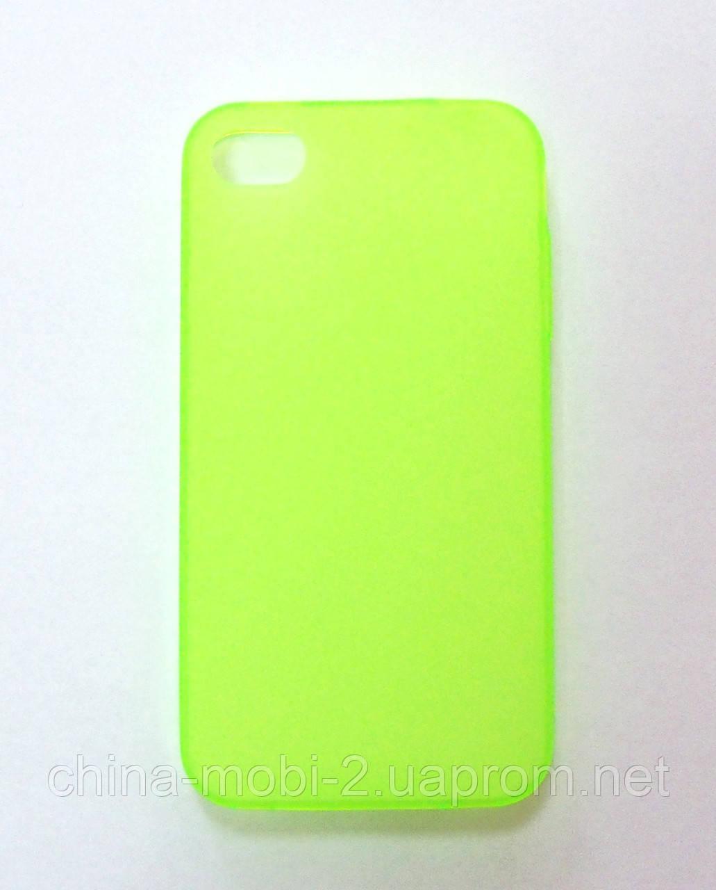 Силиконовый чехол iPhone 4 green