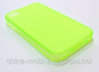 Силиконовый чехол iPhone 4 green, фото 2