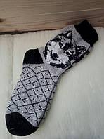 Мужские носки из овечьей шерсти с узором разные цвета