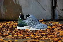Мужские зимние кроссовки Asics Gel Lyte MT (Silver/green), кроссовки асикс с термопрокладкой, асиксы на зиму