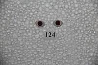 Глазки рыбки 11 мм, карие. №124