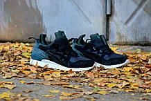 Мужские зимние кроссовки Asics Gel Lyte MT (Black/Green), кроссовки асикс с термопрокладкой, асиксы на зиму
