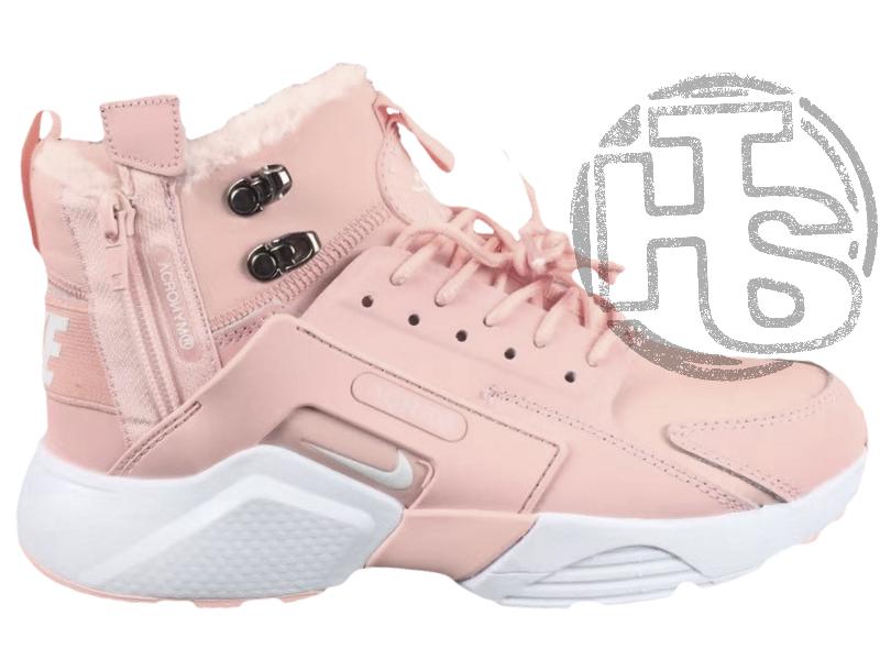 86b2a3eaf Женские кроссовки Nike Air Huarache x ACRONYM City Winter Pink (с мехом)