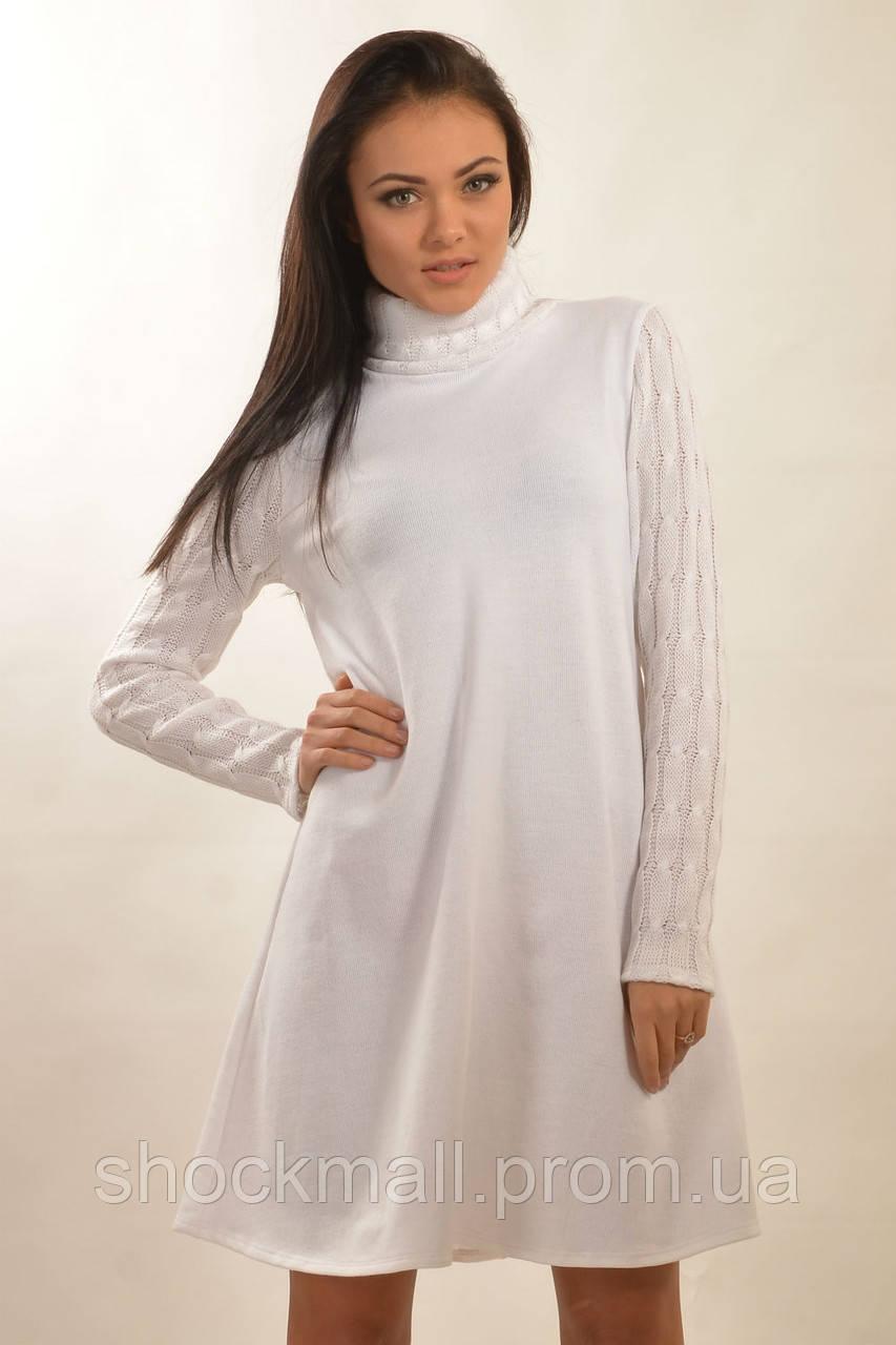 3bd3eca3ffe Купить Женское теплое белое платье