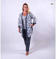 Женский теплый комплект халат с пижамой р.42-54