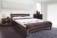 Кровать Пальмира 160-200 см (Орех темный + патина серебро)