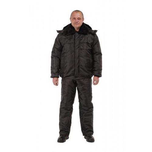 Костюм рабочий утепленный, полукомбинезон с курткой утепленные, костюм зимний для охранника