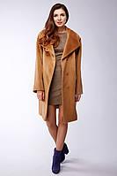 e93ec3ff521 Зимнее шерстяное пальто средней длины из альпака. Nora 02-бежевый