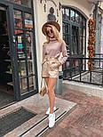 Женский костюм: кофточка из ангоры и шорты с высокой посадкой из эко-кожи (4 цвета), фото 9