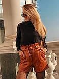 Женский костюм: кофточка из ангоры и шорты с высокой посадкой из эко-кожи (4 цвета), фото 10