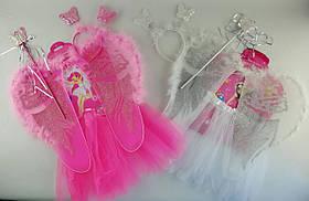 Новогодний Костюм Ангел: юбка, крылья, жезл, ободок С31244