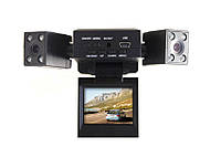 Видеорегистратор автомобильный DVR H3000 2 камеры.