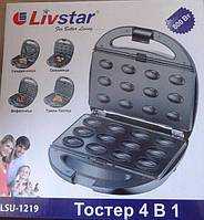 Livstar 1219, вафельница, орешница, гриль-тостер, сендвичница.
