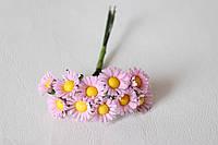 Ромашки декоративные 2  см 10 шт/уп. розового цвета, фото 1