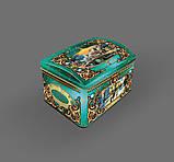 Новогодняя коробка шкатулка, Сундук, Жестяная упаковка для конфет, 900 гр,  Металлическая коробка для конфет, фото 2