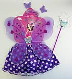 Новогодний Костюм Бабочка: юбка, крылья, жезл, ободок С31249, фото 2