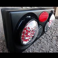 Задние стопы на ВАЗ 2109 стиль Camaro,3D (черные), фото 1