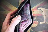 Портмоне гаманець чоловічий Космополіт чорний, фото 5