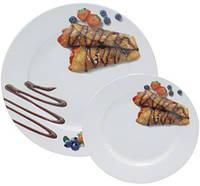 Набор тарелок для блинов ST Pancakes Шоколад  блюдо  6 тарелок Белый, КОД: 172325