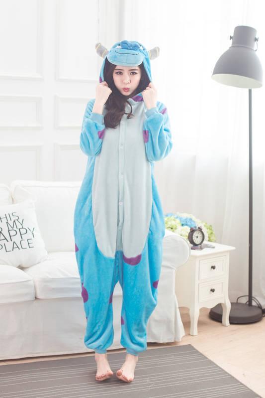 Пижама Пижама Кигуруми Монстр Салли L 168-178 см  продажа 40ae7fe472057