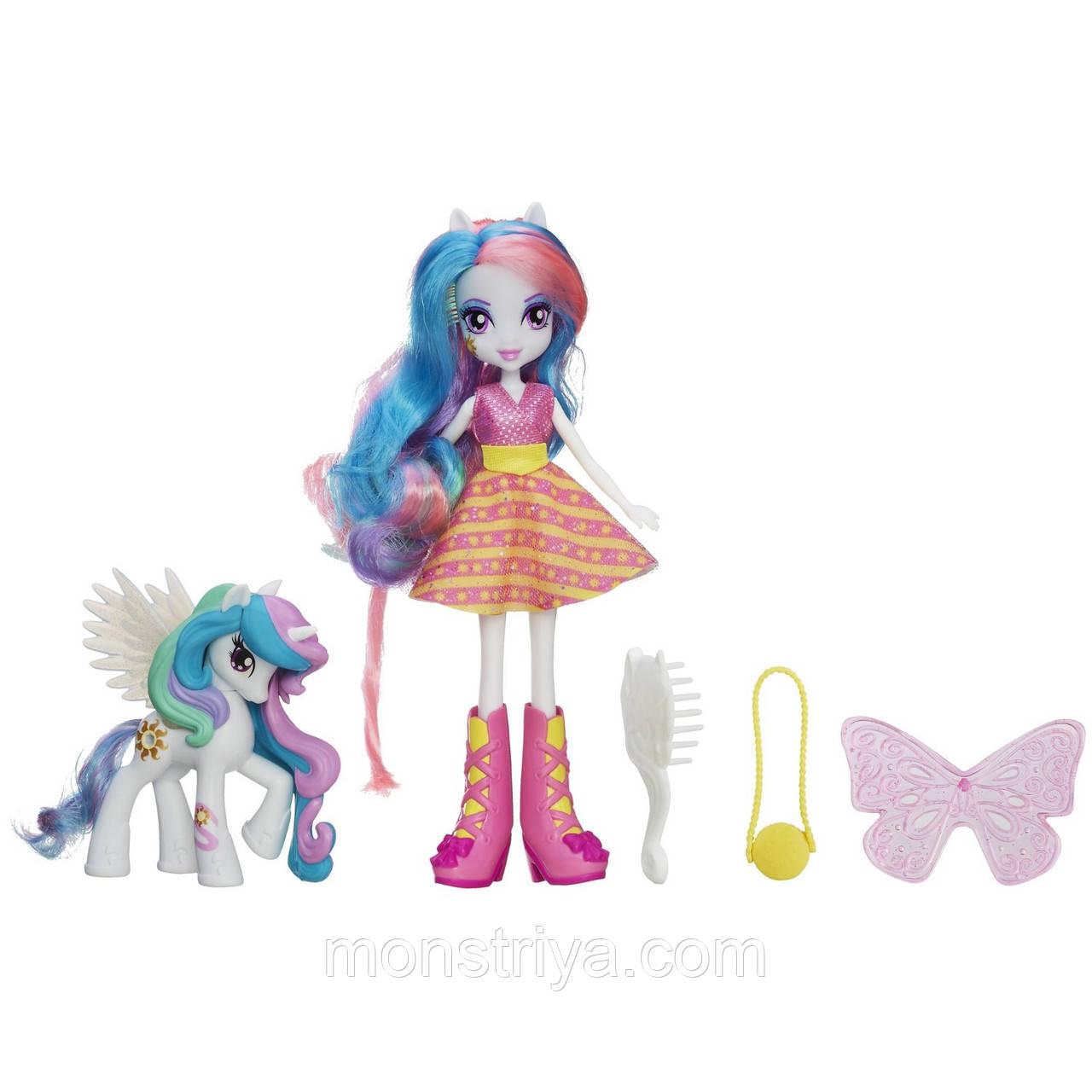 Набор кукла и пони Celestia, My Little Pony Equestria Girls (Девушки Эквестрии) от Hasbro