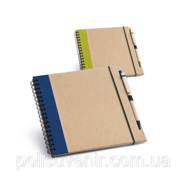 Блокнот на 60 листов с ручкой