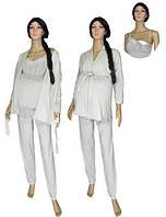 NEW! Пижама с теплым халатом для беременных и кормящих - серия Klipsa Soft Grey ТМ УКРТРИКОТАЖ!