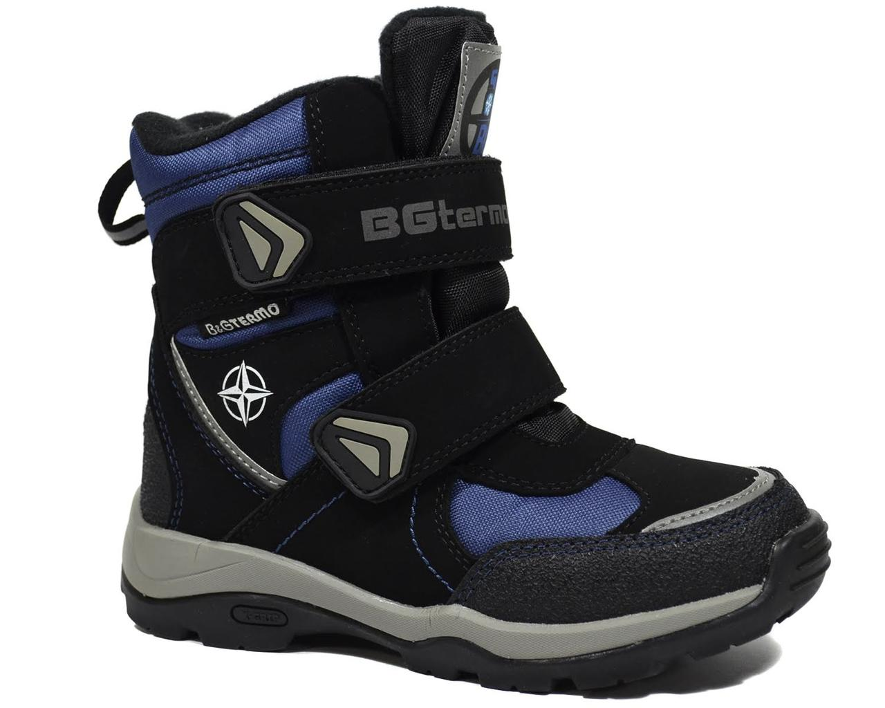 795aa96d8 Детские зимние термо-ботинки для мальчика, B&G-Termo gray-blue, 31 ...