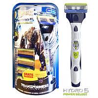 Бритва Wilkinson Sword Hydro 5 Transformers Power 1 шт + 5 картриджей 1036, КОД: 163141