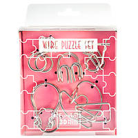 Головоломки Розовый Набор Wire Puzzle Set Pink