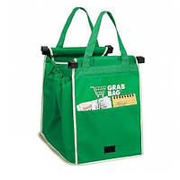 Хозяйственная сумка для покупок Grab Bag Зеленая Hok56312, КОД: 163199