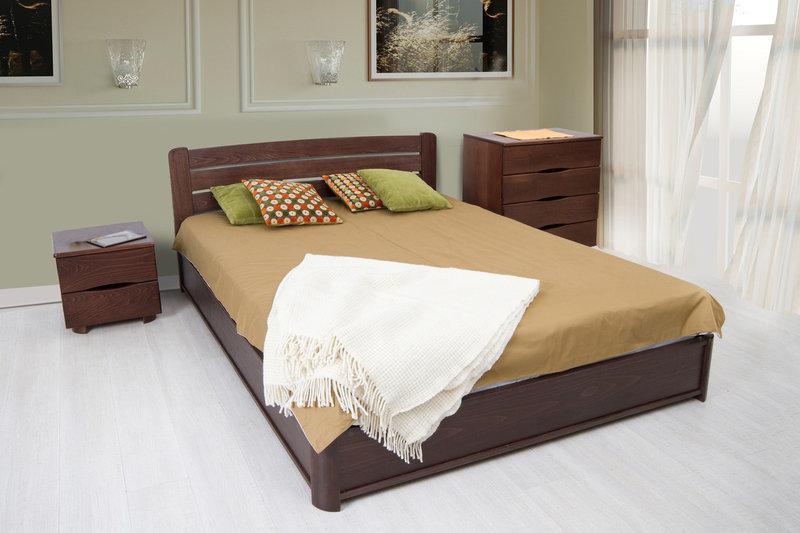 Кровать София 160 х 200 см (орех темный)