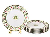 """Набор тарелок 6 шт """"рождественская коллекция"""" 26 см"""
