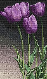 """Набор алмазной вышивки (мозаики) """"Сиреневые тюльпаны"""""""